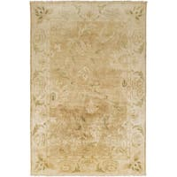 Hand-Knotted Lawrence Border New Zealand Wool Area Rug (9' x 13') - 9' x 13'