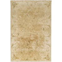 Hand-Knotted Lawrence Border New Zealand Wool Area Rug - 9' x 13'