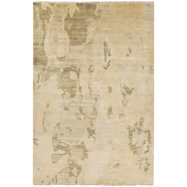 Hand-Knotted Shawna Abstract New Zealand Wool Area Rug (9' x 13') - 9' x 13'