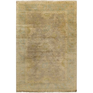 Hand-Knotted Sawyer Border New Zealand Wool Rug (9' x 13')