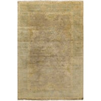 Hand-Knotted Sawyer Border New Zealand Wool Area Rug (9' x 13') - 9' x 13'