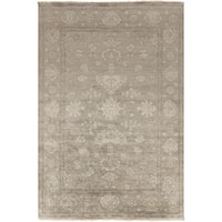 Gracewood Hollow Whitehead Hand-Knotted Border New Zealand Wool Area Rug - 2' x 3'
