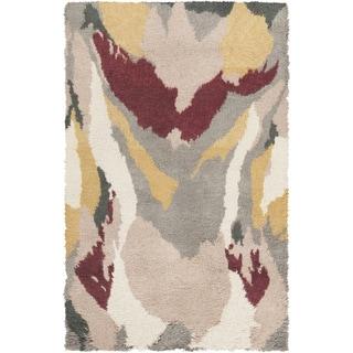 Hand-Woven Kirwan Abstract Wool Rug (5' x 8')