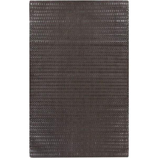Hand-Loomed Nyla Solid Indoor Area Rug - 5' x 8'