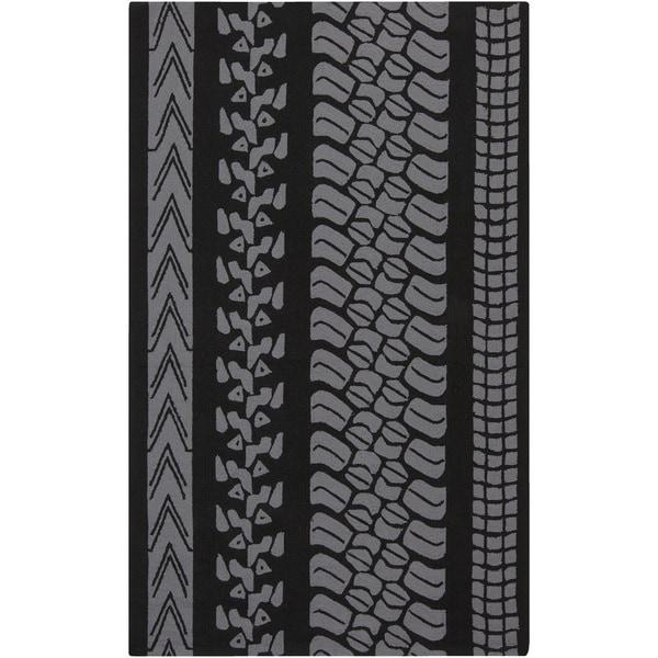 Hand-Hooked Otis Stripe Polypropylene Rug (5' x 8')