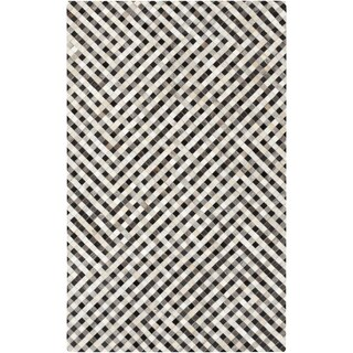 Hand-Crafted Anahi Color Block Hair On Hide Rug (5' x 8')