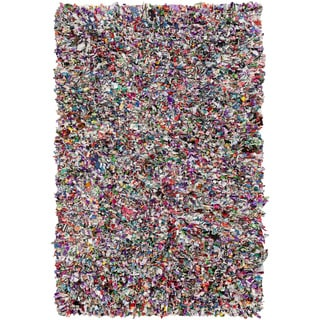 Hand-Loomed Neil Abstract Cotton Rug (2' x 3')