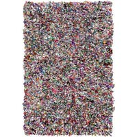 Hand-Loomed Neil Abstract Cotton Area Rug - 2' x 3'