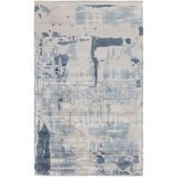 Hand-Loomed Smith Abstract Rayon from Bamboo Silk Area Rug - 2' x 3'