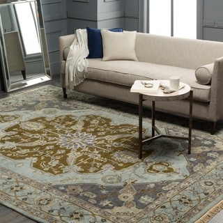 Hand-Knotted Tim Border New Zealand Wool Rug (3'9 x 5'9)