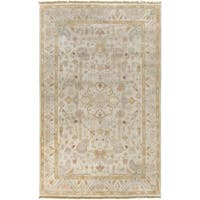 Hand-Knotted Andy Border New Zealand Wool Area Rug