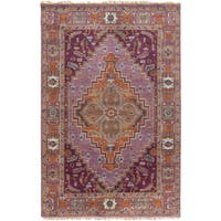 Hand-Knotted Joe Border New Zealand Wool Area Rug