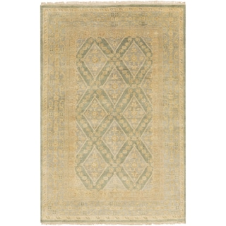 """Hand-Knotted Colin Border New Zealand Wool Area Rug - 5'6"""" x 8'6"""""""