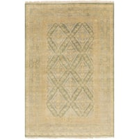 Hand-Knotted Colin Border New Zealand Wool Area Rug - 8' x 11'