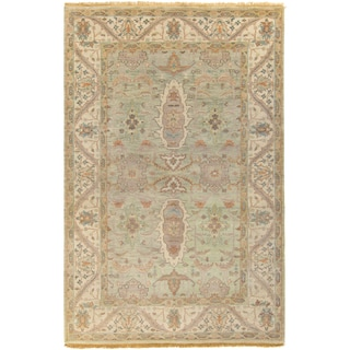 Hand-Knotted Alec Border New Zealand Wool Rug (9' x 13')