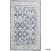 Hand-Knotted Orford Wool Area Rug (5'6 x 8'6)