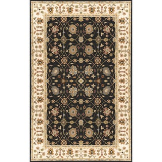 Hand-Tufted Calvert Border New Zealand Wool Rug (9' x 13')