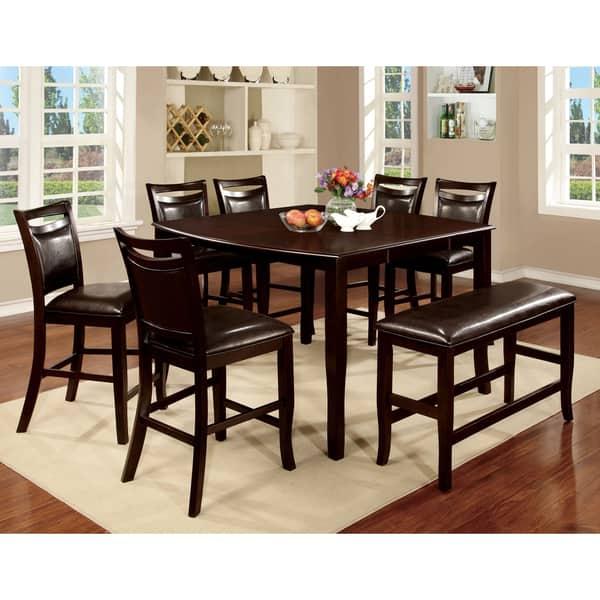 Shop Furniture of America Zita Modern Brown 8-piece Counter ...