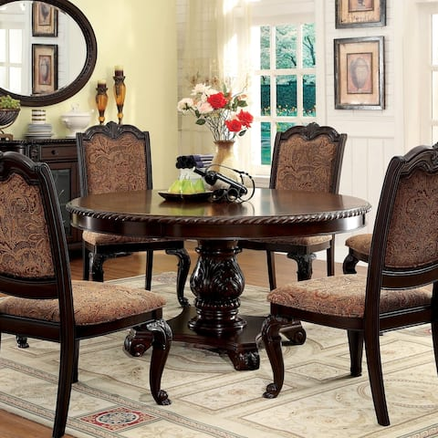 Furniture of America Kova Traditional Cherry 60-inch Dining Table