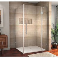 Aston Avalux 48-in x 32-in x 72-in Completely Frameless Hinged Shower Enclosure in Chrome