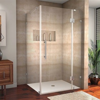 Aston Avalux 40-in x 32-in x 72-in Completely Frameless Hinged Shower Enclosure in Chrome