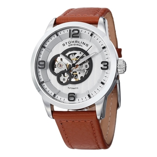 Stuhrling Original Men's Automatic Legacy Leather Strap Watch