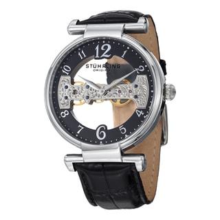 Stuhrling Original Men's Mechanical Legacy Leather Strap Watch