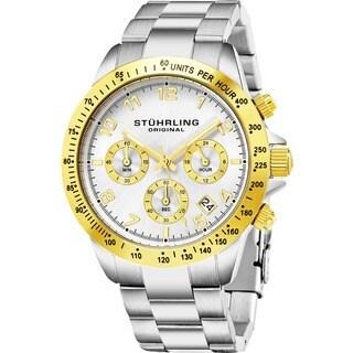 Stuhrling Original Men's Quartz Concorso Stainless Steel Bracelet Watch