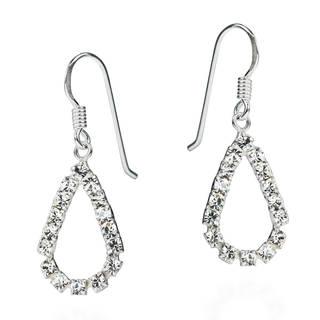 Lovely Teardrop Cubic Zirconia .925 Silver Dangle Earrings (Thailand)