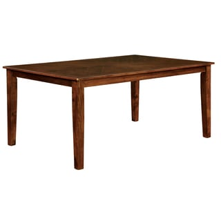Furniture of America Leonard I Brown Cherry 60-inch Dining Table