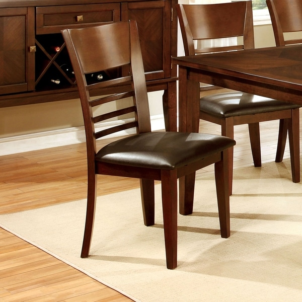 Shop Furniture Of America Rons Contemporary Brown Dining