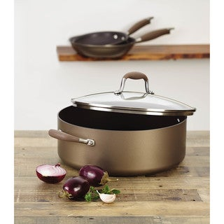 Anolon Advanced Bronze Hard-anodized Nonstick 7 1/2-quart Covered Wide Stockpot