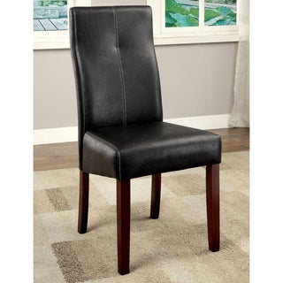 Audrey Contemporary Brown Cherry Dining Chair (Set of 2) by FOA