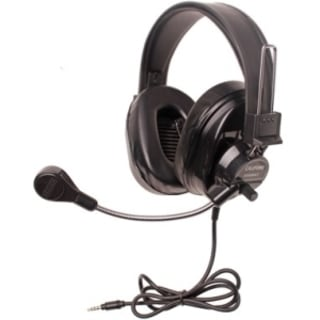 Califone Deluxe Multimedia Stereo Headsets w/Mic and To Go Plug Via E