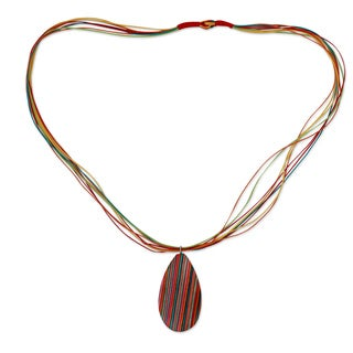 Handcrafted Indian Elm Wood 'Celebration' Necklace (India)