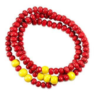 Set of 3 Men's Pinewood 'Crimson Spirituality' Bracelets (Guatemala)