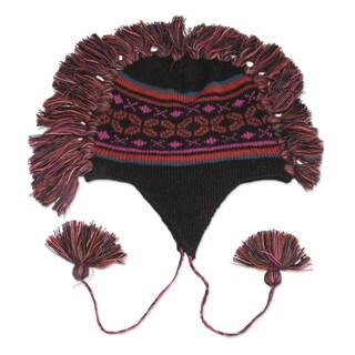 Handcrafted Alpaca 'Pisac Night' Chullo Hat (Peru)