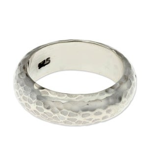 Handmade Sterling Silver 'Moon Walker' Ring (Indonesia)