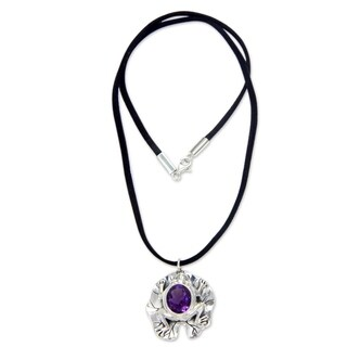 Sterling Silver 'Frog Prince' Amethyst Necklace (Indonesia)
