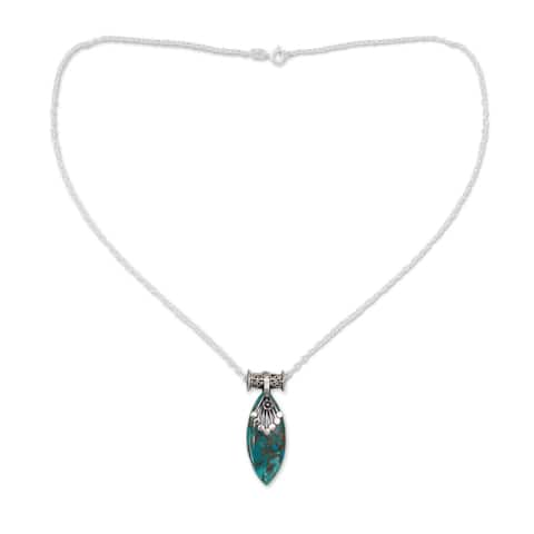 Sterling Silver Jaipur Legacy Turquoise Necklace (India)