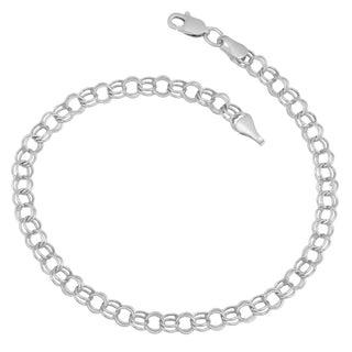 Fremada 14k Gold Hollow Link Charm Bracelet