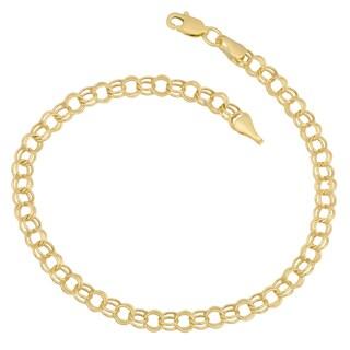 Link to Fremada 14k Gold Hollow Link Charm Bracelet Similar Items in Bracelets