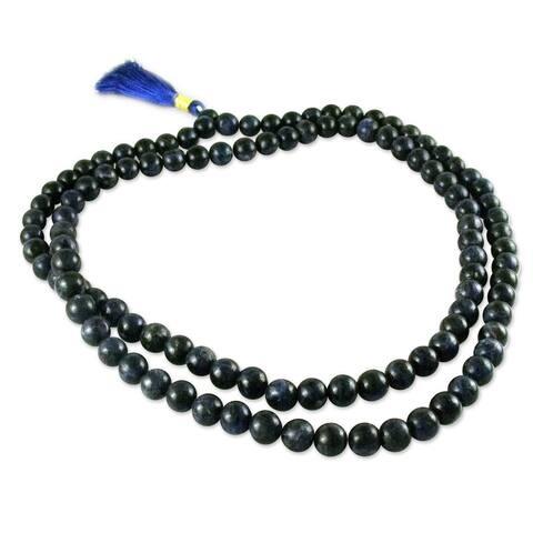 Handmade Sodalite 'Pray' Prayer Beads (India)