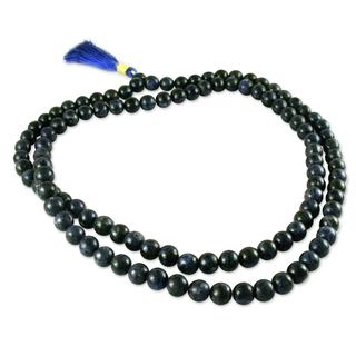 Handcrafted Sodalite 'Pray' Prayer Beads (India)