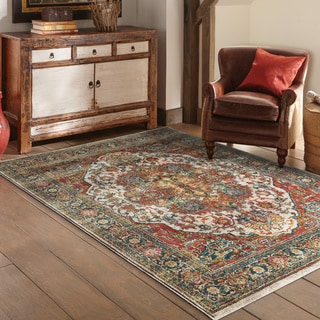 """Copper Grove Hirtles Persian Red/ Multi Rug - 3'10"""" x 5'5"""""""