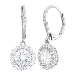 Gioelli Sterling Silver 5 1/4ct TGW Cubic Zirconia Dangle Earrings