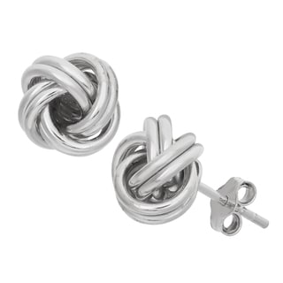 Gioelli Sterling Silver High Polish Love Knot Stud Earrings