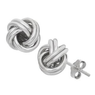 Gioelli Sterling Silver High Polish Love Knot Stud Earrings