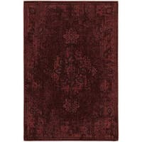 Traditional Distressed Overdyed Persian Red/ Pink Rug - 5'3 x 7'6