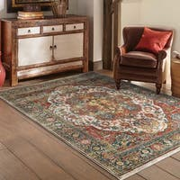 Laurel Creek Lester Persian Red/ Multi Rug - 6'7 x 9'6